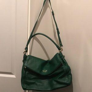 kate spade Bags - Kate Spade Green Leather Crossbody Satchel